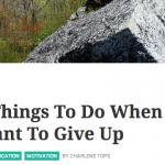 cose da fare quando vuoi mollare - lifehack.org