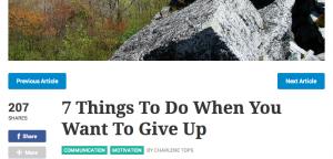 cose da fare quando vuoi mollare -Giuliano Perticara blog. fonte: Lifehack.org