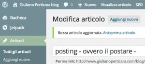 posting - ovvero il postare - Giuliano Perticara blog