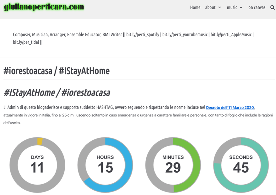 giuliano perticara blog - #iorestoacasa / #IStayAtHome - Screenshot